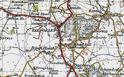 Old map of Tarporley in 1947