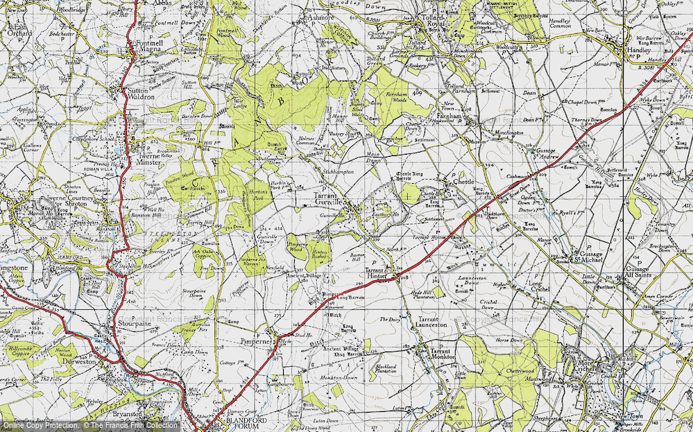 Old Map of Historic Map covering White Kennels in 1940