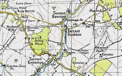 Old map of Ashley Wood in 1940
