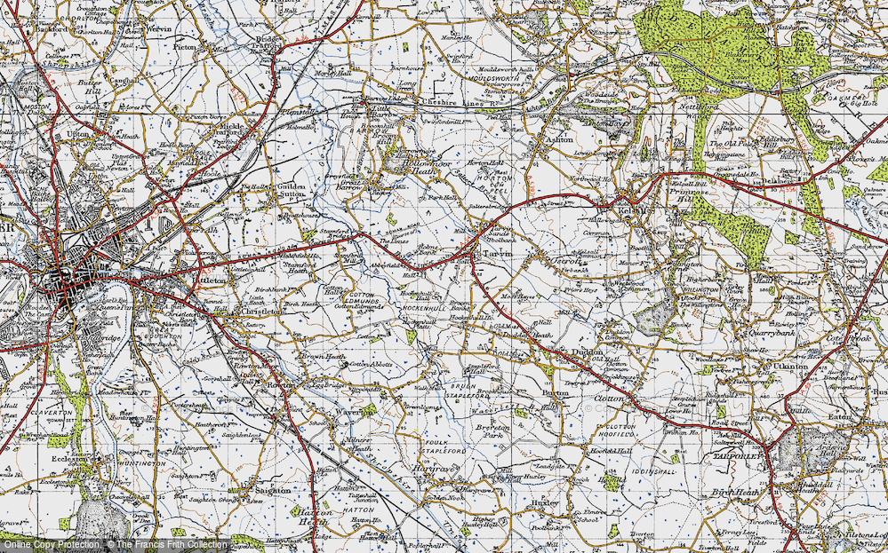 Old Map of Historic Map covering Abbeyfield in 1947