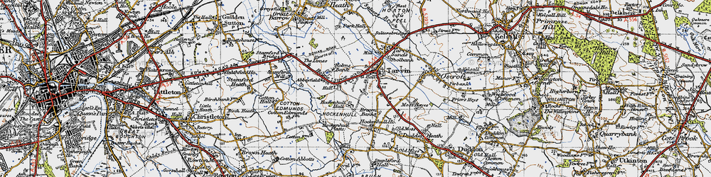 Old map of Abbeyfield in 1947