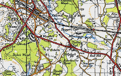 Old map of Tatling End in 1945