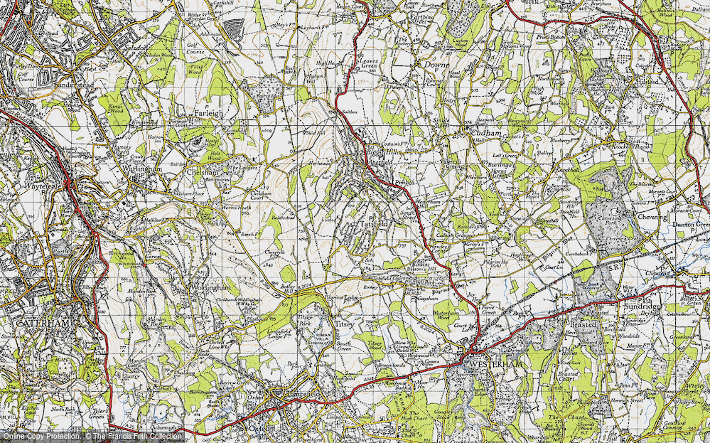 Old Map of Tatsfield, 1946 in 1946