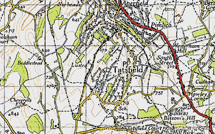 Old map of Tatsfield in 1946