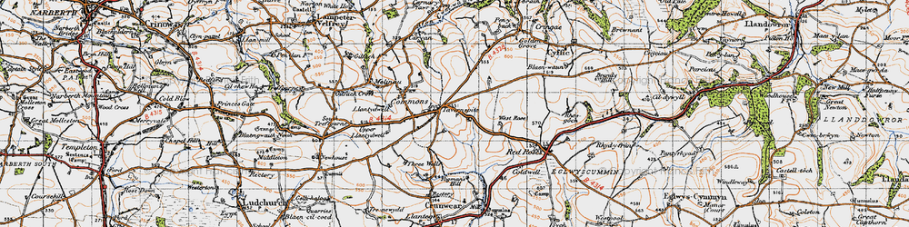 Old map of West Rose in 1946