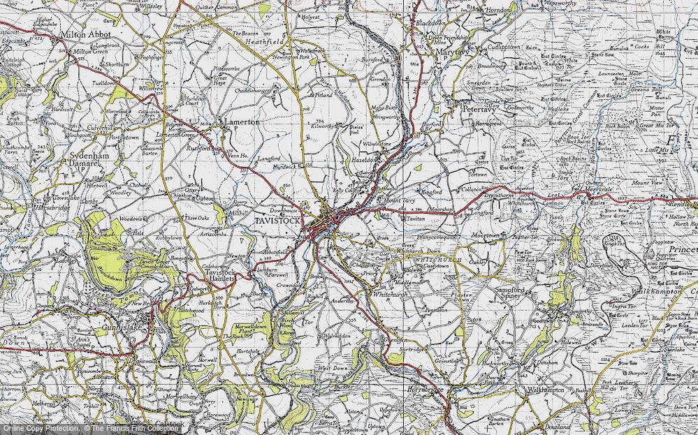 Old Map of Tavistock, 1946 in 1946