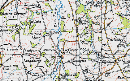 Old map of Wickington in 1946