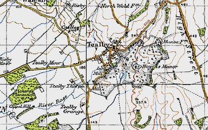 Old map of Tealby in 1946