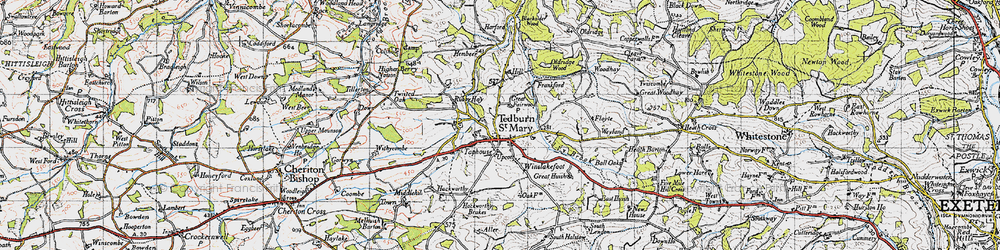 Old map of Winslakefoot in 1946