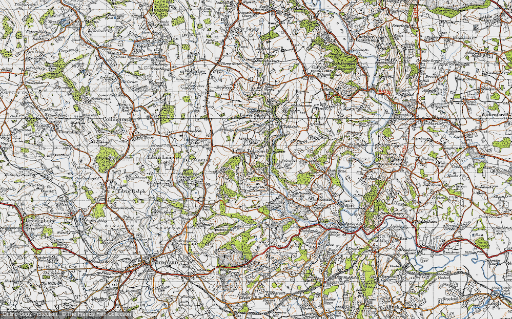 Old Map of Historic Map covering Tidbatch in 1947