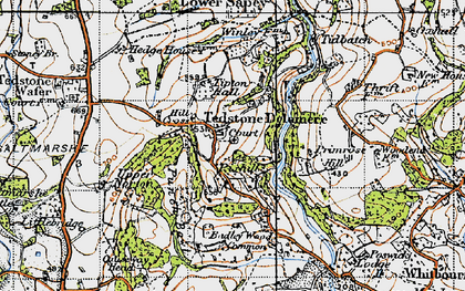 Old map of Tidbatch in 1947