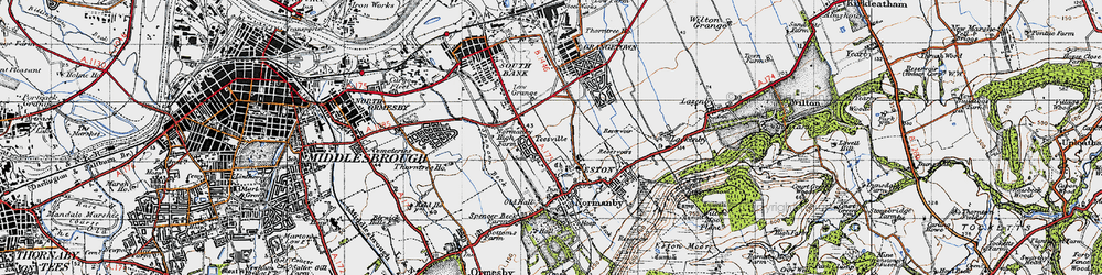Old map of Teesville in 1947