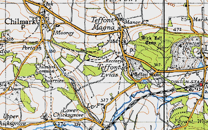 Old map of Wick Ball Camp in 1940