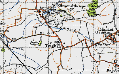 Old map of Woodwell Head in 1946