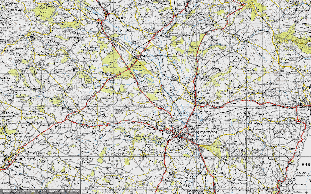 Old Map of Teigngrace, 1946 in 1946