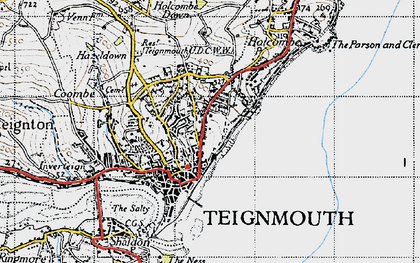 Old map of Teignmouth in 1946
