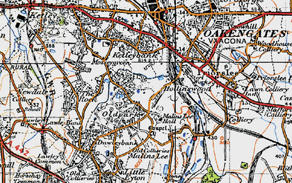 Old map of Telford in 1946