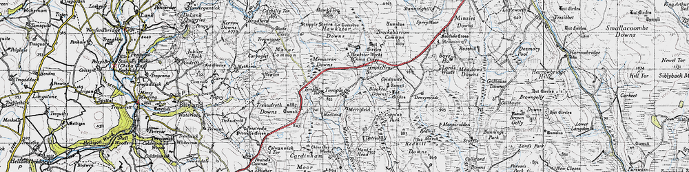 Old map of Tiptreehall in 1946