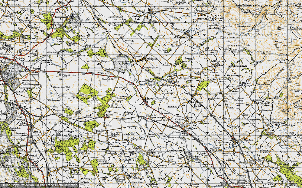 Old Map of Historic Map covering Ash Hill in 1947