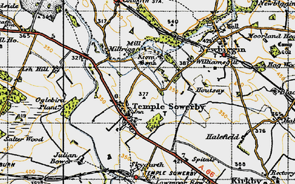 Old map of Acorn Bank in 1947