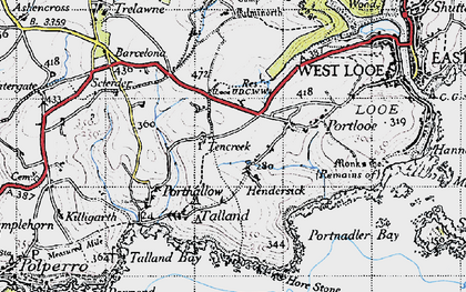 Old map of Tencreek in 1946
