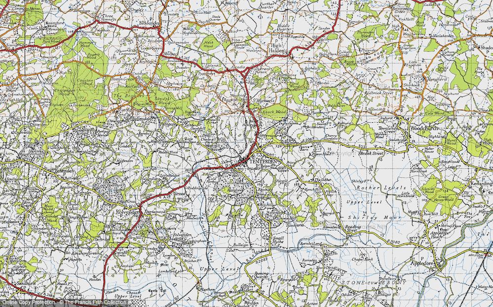 Old Map of Tenterden, 1940 in 1940