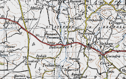 Old map of Terras in 1946