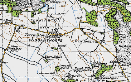 Old map of Terrington in 1947