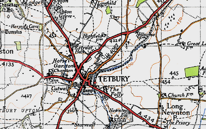 Old map of Tetbury in 1946