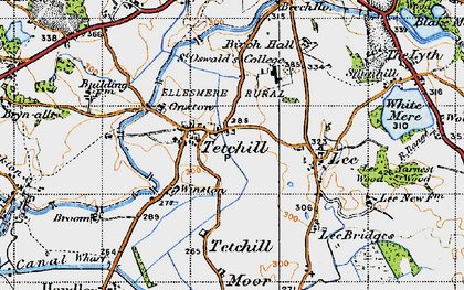 Old map of Winston in 1947