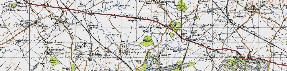 Old map of Tittershall Wood in 1946