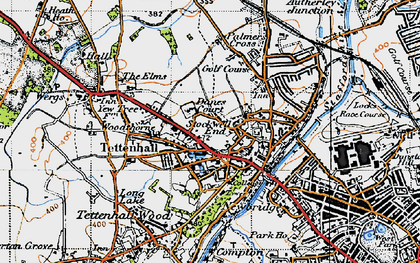 Old map of Tettenhall in 1946