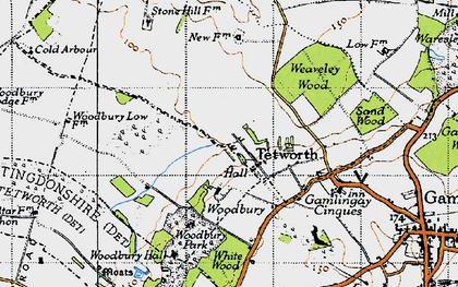 Old map of White Wood in 1946