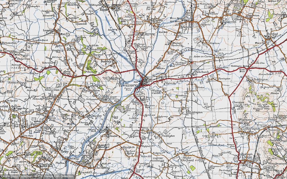 Map Of Tewkesbury Map of Tewkesbury, 1946   Francis Frith