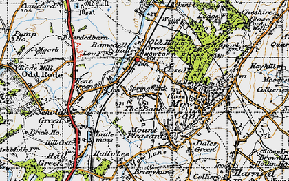 Old map of Ackers Crossing in 1947