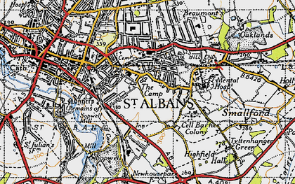 Old map of The Camp in 1946