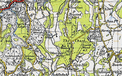 Old map of The Chart in 1946