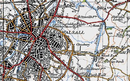 Old map of Wren's Nest in 1946
