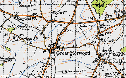 Old map of The Common in 1946