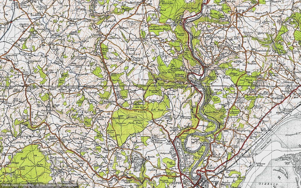 Old Map of Historic Map covering Banton in 1946