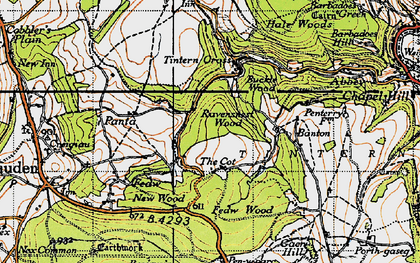 Old map of Banton in 1946