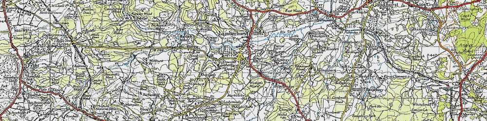 Old map of Wiskett's Wood in 1946