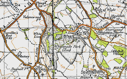 Old map of ZSL Whipsnade Zoo in 1946