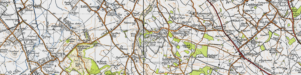 Old map of White Lion in 1946