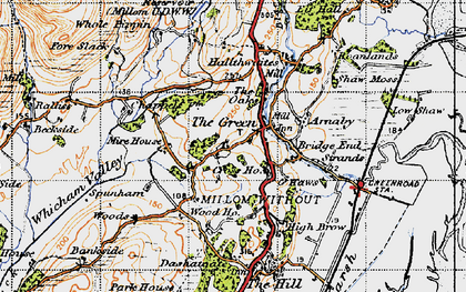 Old map of The Green in 1947