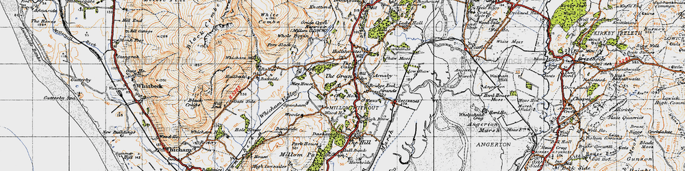 Old map of Whicham Mill in 1947