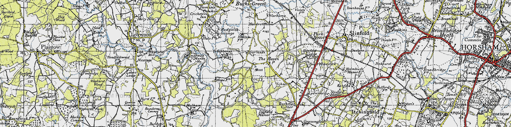 Old map of Gibbons Mill in 1940