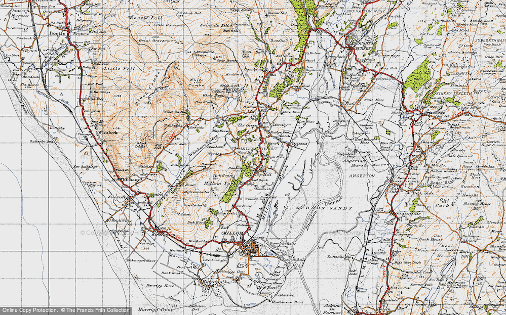Old Map of Historic Map covering Woods in 1947