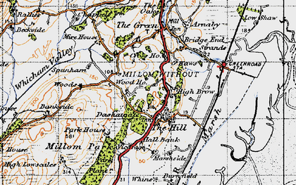 Old map of Whicham Valley in 1947