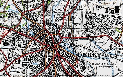 Old map of The Holmes in 1946